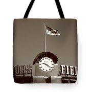 Coors Field - Colorado Rockies 16 Tote Bag by Frank Romeo