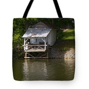 Coosa River Fishing Hut   #9548 Tote Bag