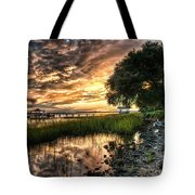 Coosaw Plantation Sunset Tote Bag