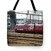 Copenhagen Commuter Train Tote Bag