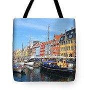 Copenhagen Denmark Nyhavn District Tote Bag