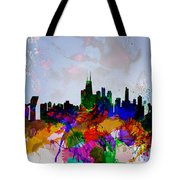Copenhagen Watercolor Skyline Tote Bag