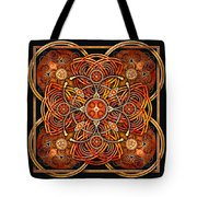 Copper And Gold Celtic Cross Tote Bag