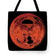 Copper Disk Abstract Tote Bag