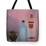 Copper Jug With Glass Bottles Tote Bag