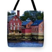 Copper Paint Building Tote Bag