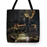 Copper Teapot Tote Bag by Debra and Dave Vanderlaan