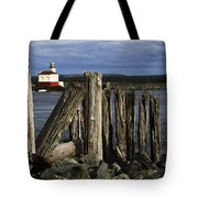 Coquille Lighthouse Oregon 3 Tote Bag