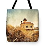 Coquille River Lighthouse - Texture Tote Bag