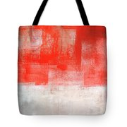 Tinted - Beige And Coral Abstract Art Painting Tote Bag