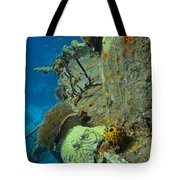 Coral Growth On A Ship Wreck Tote Bag