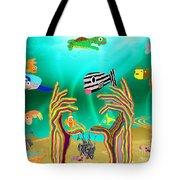 Coral Hands Tote Bag