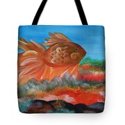 Coral Land Goldfish Tote Bag
