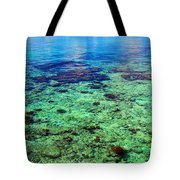 Coral Reef Near The Island At Peaceful Day. Maldives Tote Bag