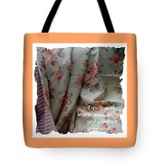 Coral Rose Quilt With Quote Tote Bag