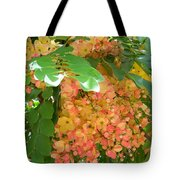 Coral Shower Tree Tote Bag
