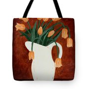 Coral Tulips In A Milk Pitcher Tote Bag