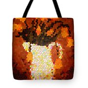 Coral Tulips In Stained Glass Tote Bag