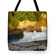 Coralville Dam At Capacity Tote Bag