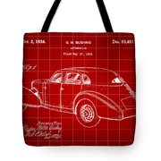 Cord Automobile Patent 1934 - Red Tote Bag