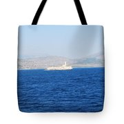 Corfu Channel Lighthouse Tote Bag