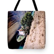 Corinth Canal Greece Tote Bag