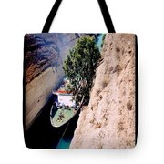 Corinth Canal Poster Tote Bag