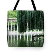 Corinthian Colonnade And Pond Tote Bag