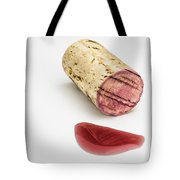 Cork With Red Wine Tote Bag