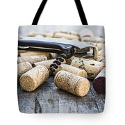 Corks With Corkscrew Tote Bag
