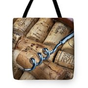 Corkscrew On Corks Tote Bag by Garry Gay