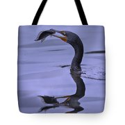 Cormorant Catch Reflection Beauty Tote Bag