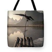 Cormorant Fishing On Li River Tote Bag