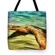 Cormorant On The Move Tote Bag
