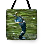 Cormorant With Catch Tote Bag