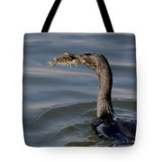Cormorant With Fish Tote Bag