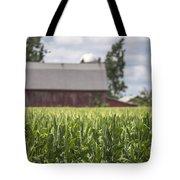 Corn Field And Barn Tote Bag
