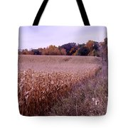 Corn Field In The Fall Tote Bag
