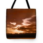 Corn Field Silhouettes Textured Tote Bag
