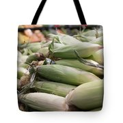 Corn On Display At Farmers Market Tote Bag