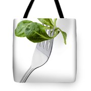 Corn Salad On A Fork Tote Bag