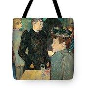Corner Of Moulin De La Galette Tote Bag by Henri de Toulouse Lautrec