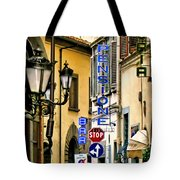 Corner Of Pensione And Bar Tote Bag