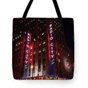 Corner Of Radio City Music Hall Tote Bag