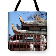 Corners Of A Temple In Grand Prairie Texas Tote Bag