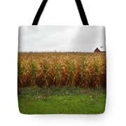 Cornfield And Farmhouse Tote Bag
