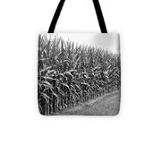 Cornfield Black And White Tote Bag
