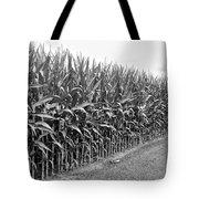Cornfield Black And White Tote Bag
