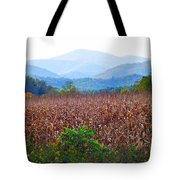 Cornfield In The Mountains Tote Bag