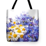 Cornflower And Chamomile Bunch Blooms  Tote Bag